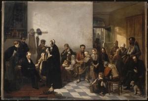 Le médecin des pauvres, par Léonard Jules (1857), © RMN-GP/René-Gabriel Ojéda